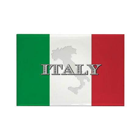 Italian Flag Extra Rectangle Magnet