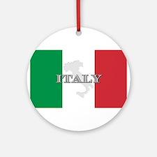 Italian Flag Extra Ornament (Round)