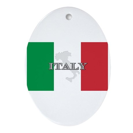 Italian Flag Extra Oval Ornament