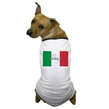 Italian Flag Extra Dog T-Shirt