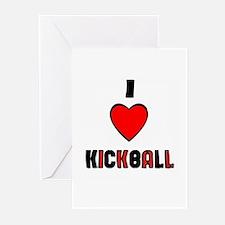 I LOVE KICKBALL Greeting Cards (Pk of 10)