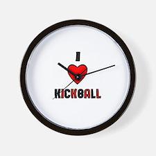 I LOVE KICKBALL Wall Clock