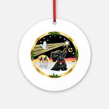 XmasDove-Scottish Terrier (#12) Ornament (Round)