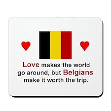 Love Belgians Mousepad