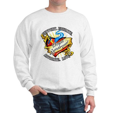 Down Syndrome Heart Sweatshirt