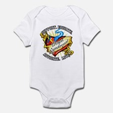 Down Syndrome Heart Infant Bodysuit