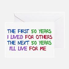 50th Birthday Freedom Statement Greeting Card