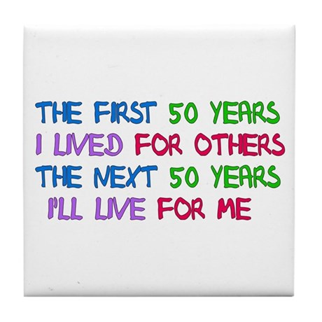 50th Birthday Freedom Statement Tile Coaster