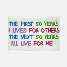 50th Birthday Freedom Statement Rectangle Magnet