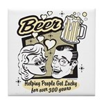 Funny Beer Humor Tile Coaster