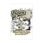 Funny Beer Humor Rectangle Sticker