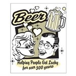 Funny Beer Humor Small Poster
