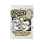 Funny Beer Humor Rectangle Magnet