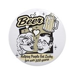 Funny Beer Humor Ornament (Round)