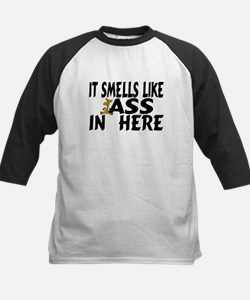It Smells Like Ass In Here Kids Baseball Jersey