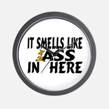It Smells Like Ass In Here Wall Clock