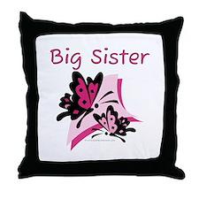 Butterflies Big Sister Throw Pillow