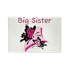Butterflies Big Sister Rectangle Magnet