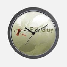 Fly Fishing Guy Wall Clock