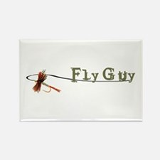 Fly Fishing Guy Rectangle Magnet