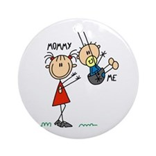 Mommy And Me Swing Ornament (Round)