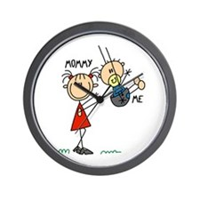 Mommy And Me Swing Wall Clock