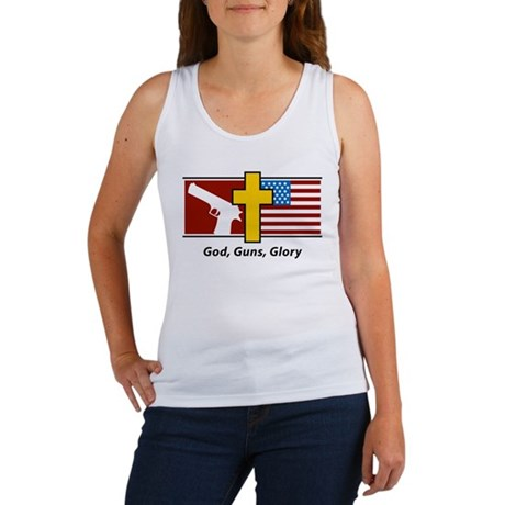 God Guns Glory Women's Tank Top