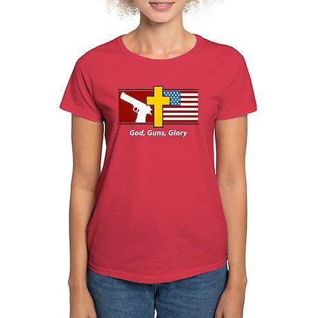God Guns Glory Women's Dark T-Shirt