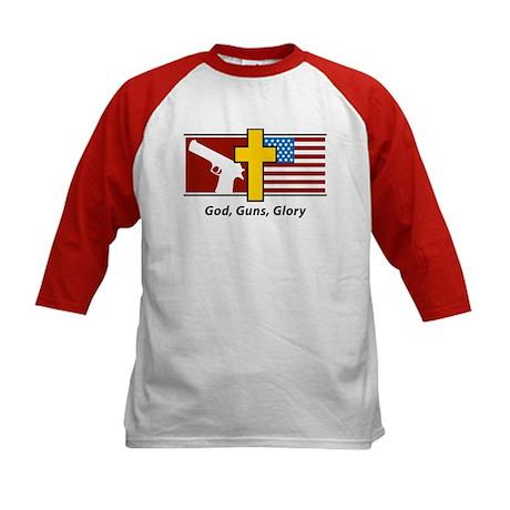God Guns Glory Kids Baseball Jersey