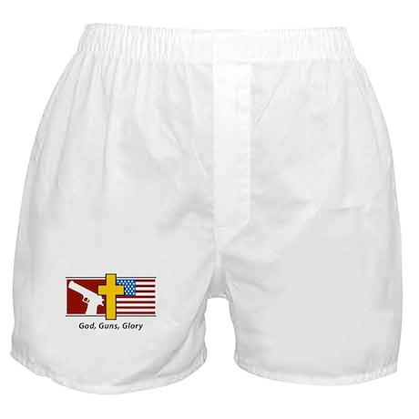 God Guns Glory Boxer Shorts