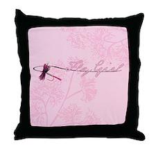 Fly Fishing Girl Throw Pillow
