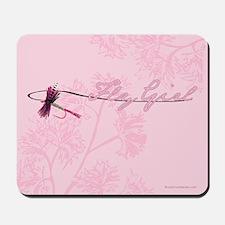 Fly Fishing Girl Mousepad