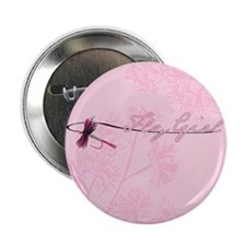 """Fly Fishing Girl 2.25"""" Button"""
