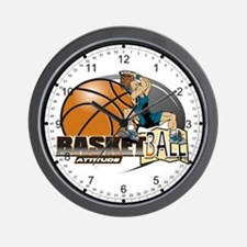 Basketball Attitude Wall Clock