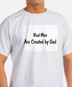 Funny In the begining man created god T-Shirt