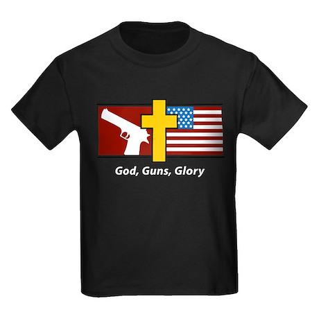 God Guns Glory Kids Dark T-Shirt