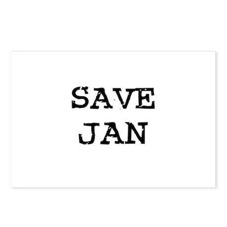 Save Jan Postcards (Package of 8)