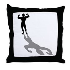 Muscle Gym Weightlifting Throw Pillow