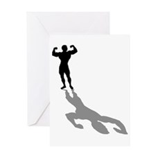 Muscle Gym Weightlifting Greeting Card