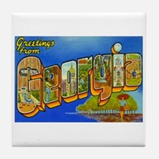 Georgia GA Tile Coaster