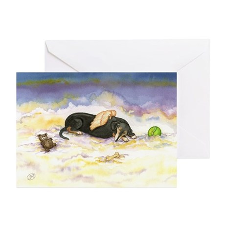 BT Dachsie Angel Greeting Cards (Pk of 10)
