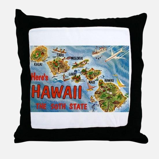 Hawaii HI Throw Pillow