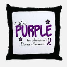 I Wear Purple 14 (Alzheimers Awareness) Throw Pill
