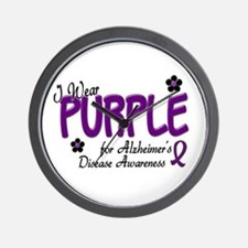 I Wear Purple 14 (Alzheimers Awareness) Wall Clock