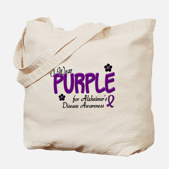 I Wear Purple 14 (Alzheimers Awareness) Tote Bag