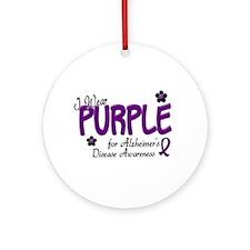 I Wear Purple 14 (Alzheimers Awareness) Ornament (