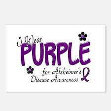 I Wear Purple 14 (Alzheimers Awareness) Postcards