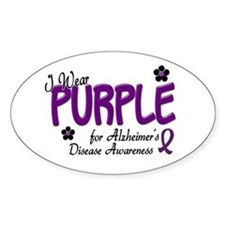 I Wear Purple 14 (Alzheimers Awareness) Decal