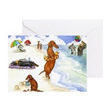 Beach Dogs Greeting Card