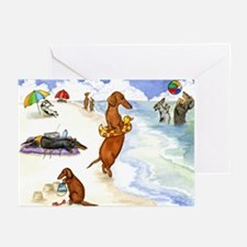 Beach Dogs Greeting Cards (Pk of 10)